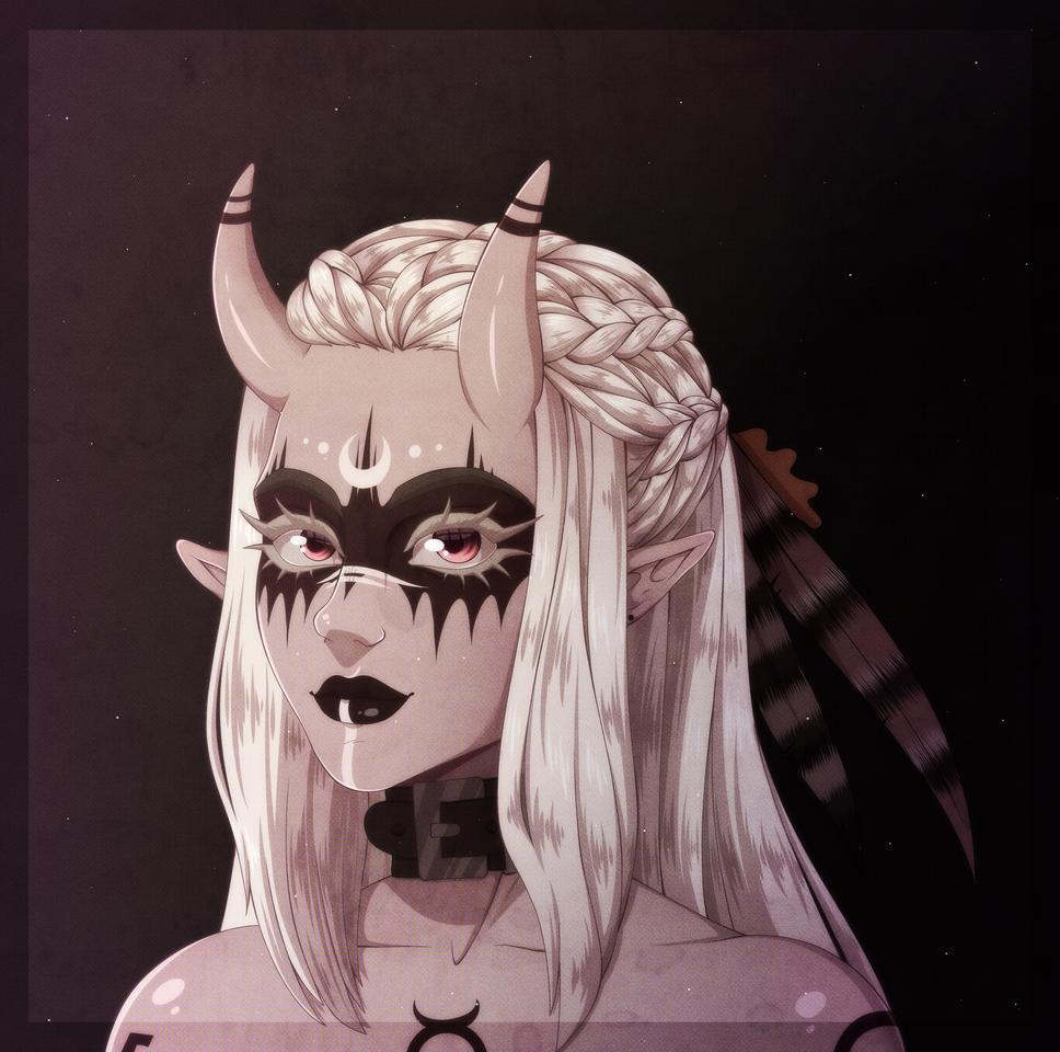 Lorelei Illust of numoon demongirl witch Albino demonoc originalcharacters oc witchcraft Lorelei