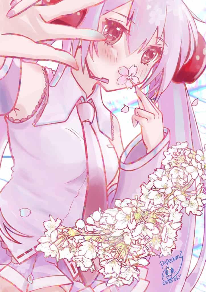 桜ミク Illust of pepeami 桜ミク hatsunemiku VOCALOID