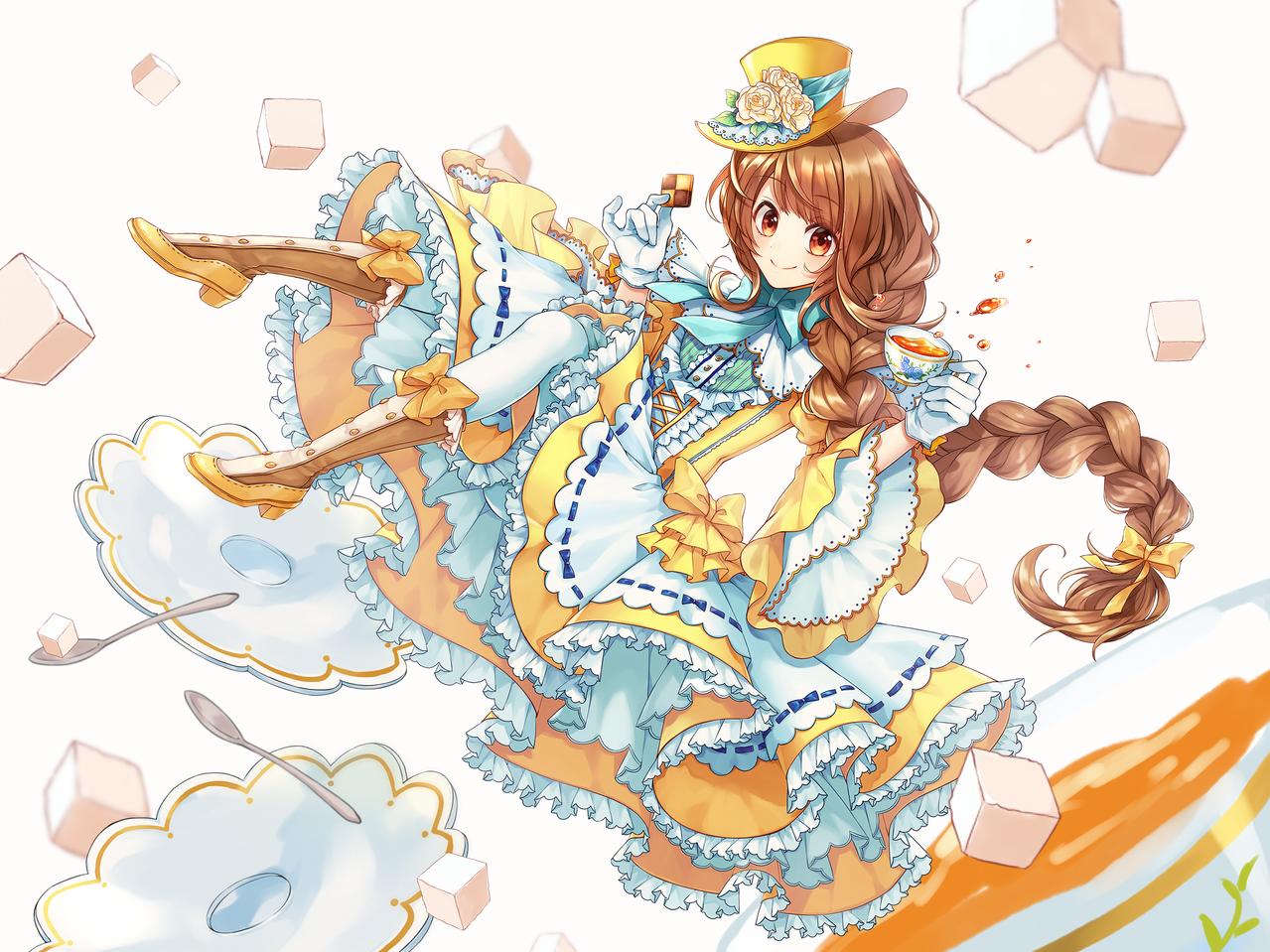 Tea girl Illust of 佳乃ゆず ロリータ girl original