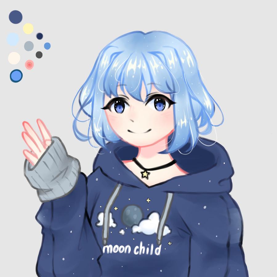 Moon child        Insta @fujoshi.neko