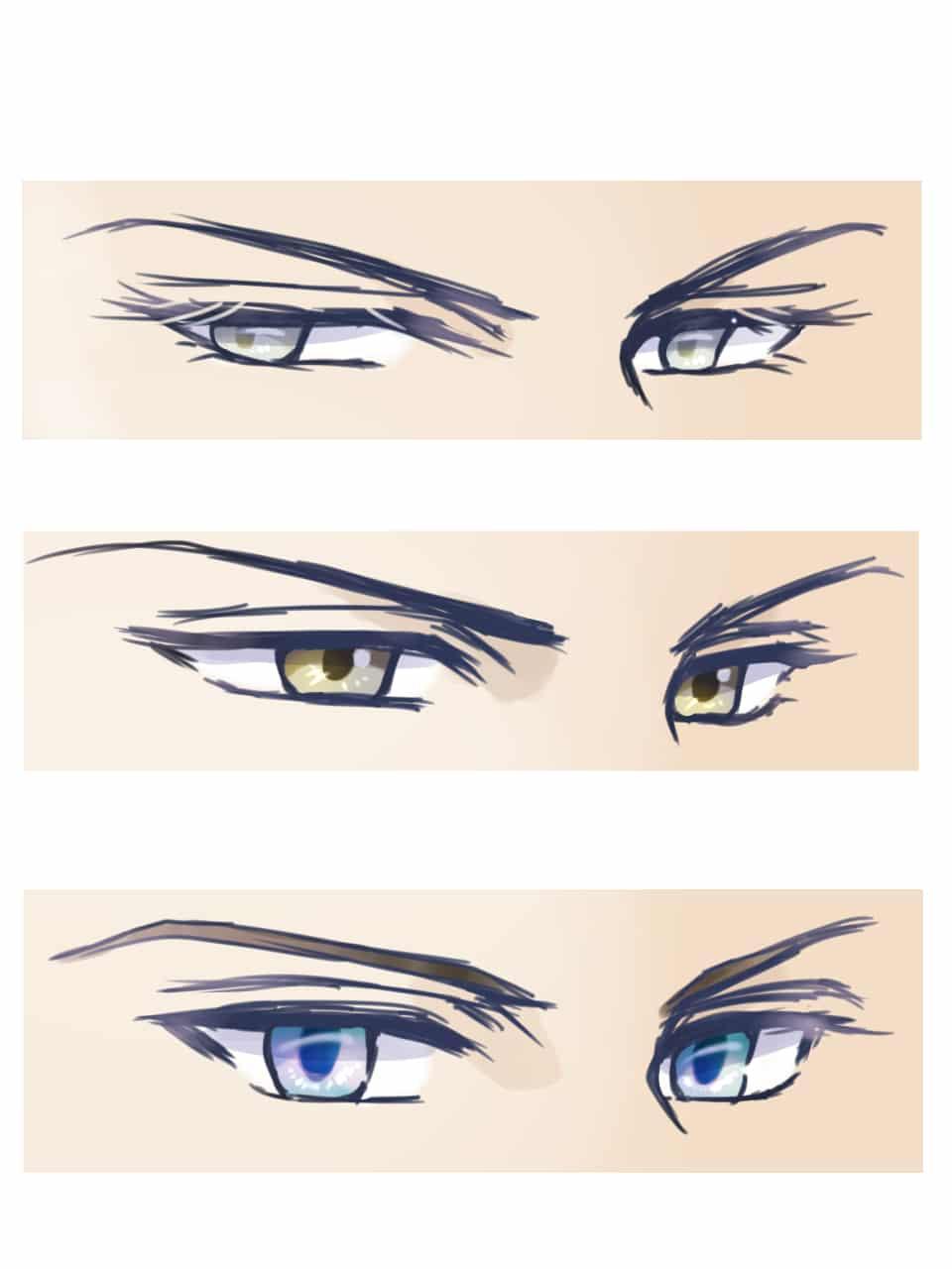 Eye Study Illust of クロモノ anime illustration eyes sketch