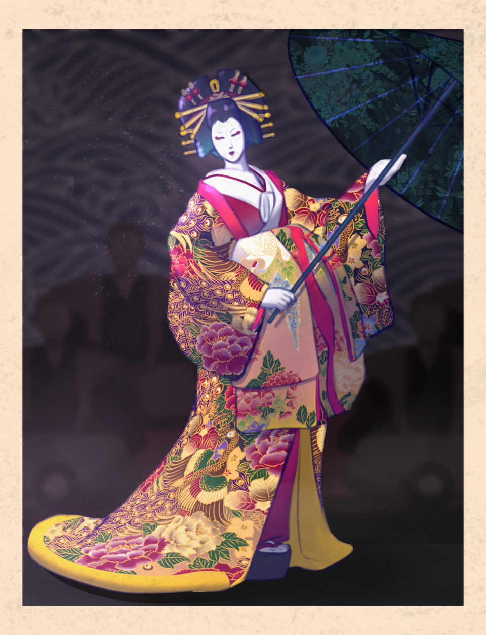 Onnagata Illust of Hiroshima Hiroku Kyoto_Award2020_illustration