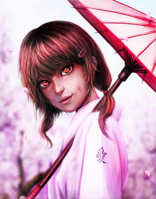 Anniversary Illust of llorddd July2020_Contest:Anniversary January2021_Contest:OC cute kimono girl