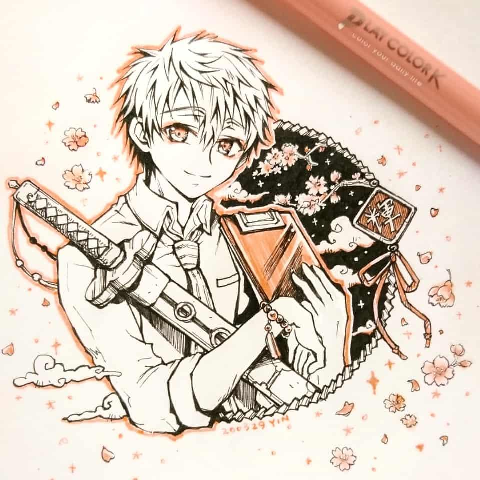 【天才祓い師・輝】 Illust of yinhidaka 花子くん 青年 Toilet-boundHanako-kun handdrawn doodle 源輝 生徒会長