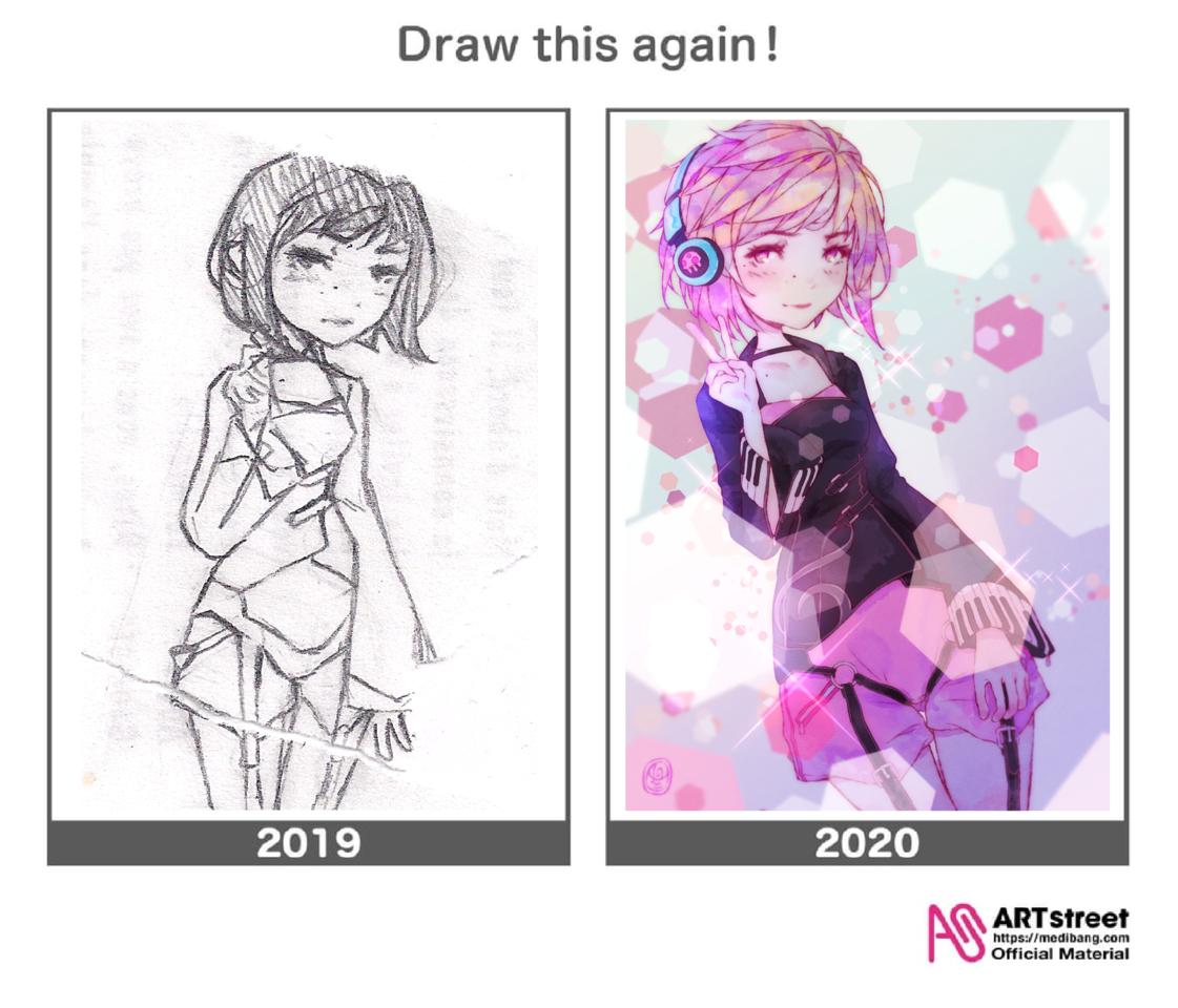 Draw this again Illust of Onali November2020_Contest:Cyberpunk DrawThisAgain art girl kawaii digital original illustration animegirl oc cute
