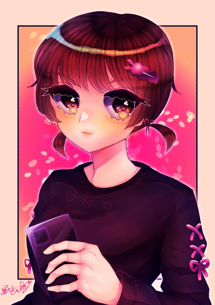 12 Illust of カツシカルキコ original twin_ponytails oc girl