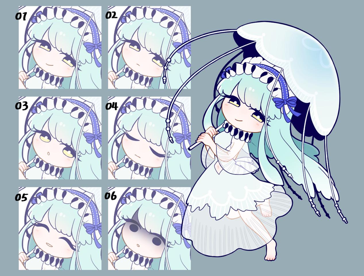 jellyfish_立ち絵素材 Illust of 空雀(そらすずめ) 立ち絵 素材 girl