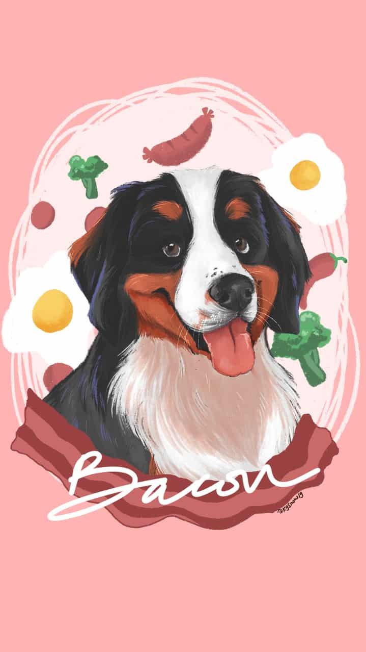 Bacon Illust of Lmbluee DOGvsCAT_DOG dog bacon