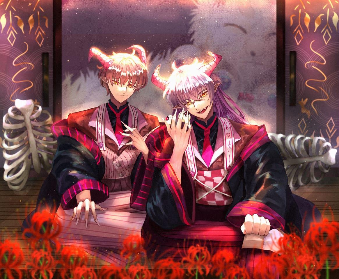 吃人怪物? Illust of 平川令 PeN February2021_Fantasy March2021_Creature youkai boy original oc horn