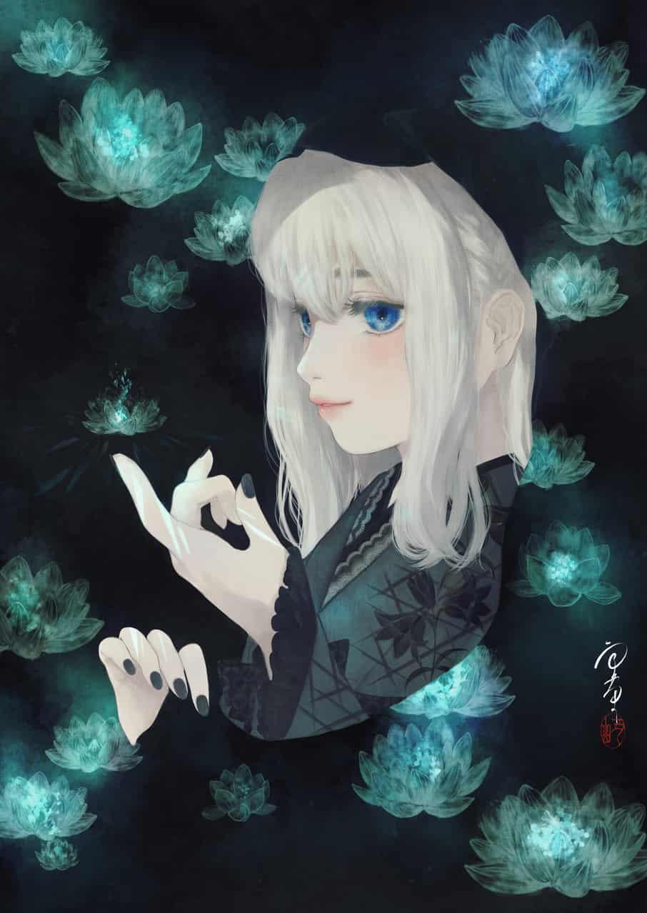 死神 Illust of 丑山雨 死神 kimono white_hair girl