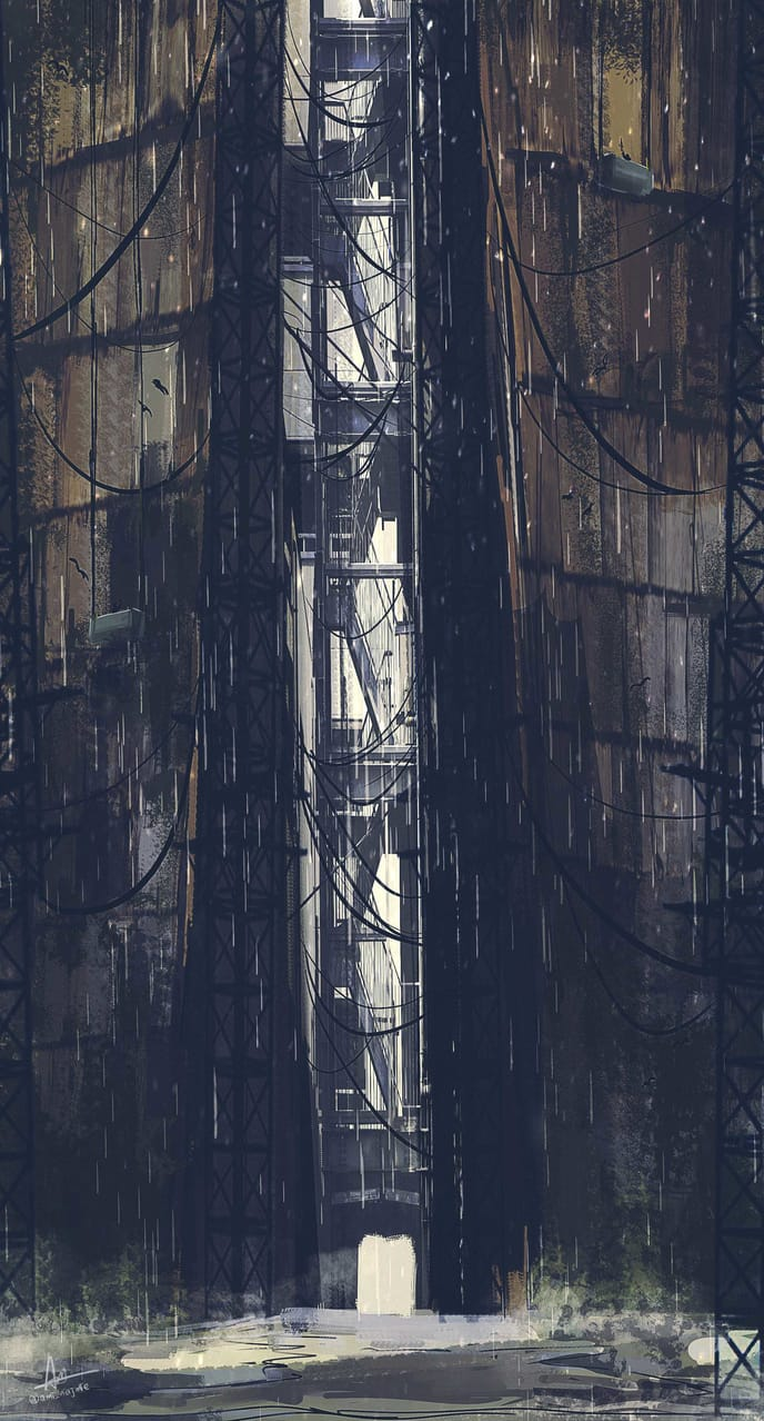 Gates Illust of ami_najmie November2020_Contest:Cyberpunk concept visualart painting futuristic digital art illustration Conceptart cyberpunk anime