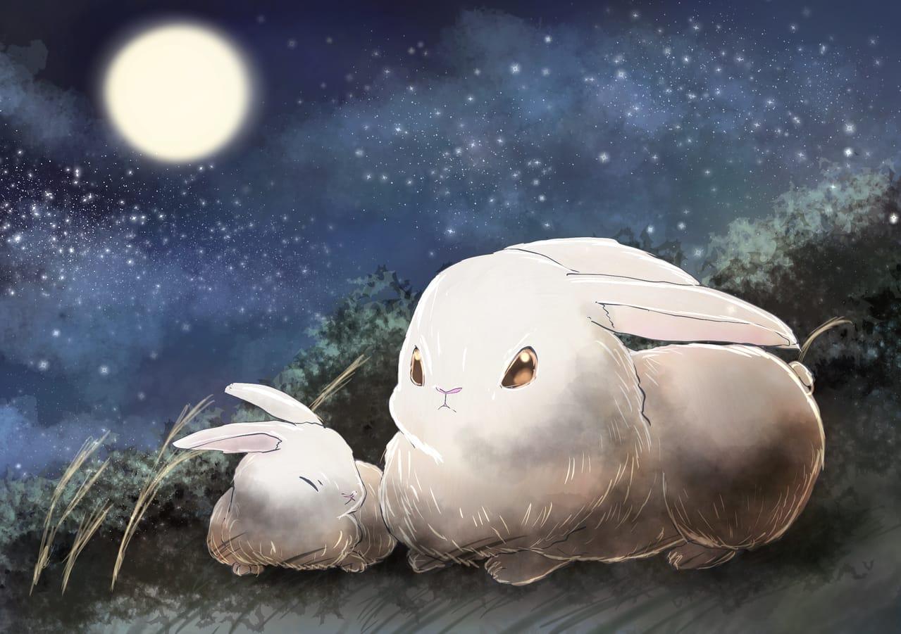レッツワンドロうさぎ Illust of 88里 夜空 rabbit night ワンドロ レッツワンドロ