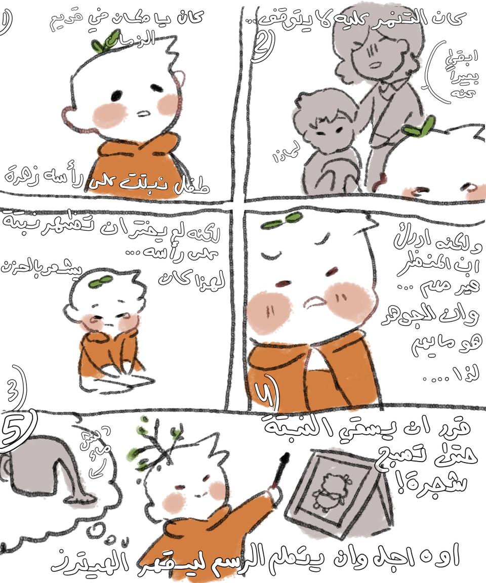 الطفل المسكين 💙😔 Illust of Shahad medibangpaint
