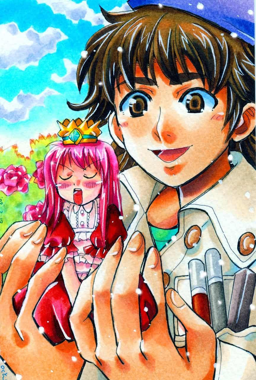 ツンデレ姫☆ Illust of おち☆よしかず(Occhiiy:オッチー☆) MyIdealWaifu MyIdealWaifu_MyIdealHusbandoContest fairy お姫様 オリジナルキャラクター男の子 女の子かわいい original オリジナルキャラクター女の子