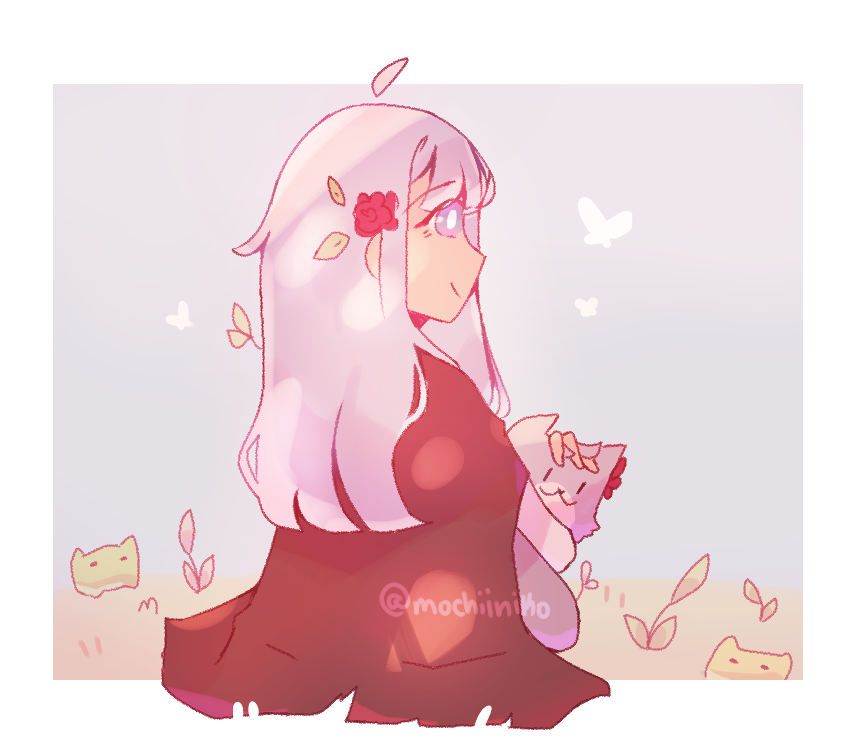 request from ice feather Illust of MochiiNiko medibangpaint request girl aesthetic cute dog