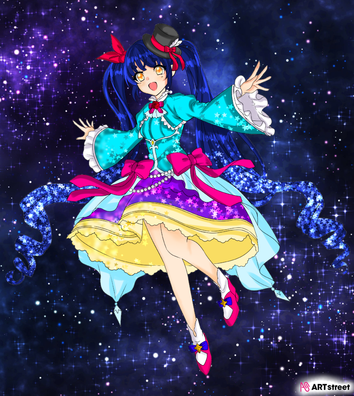 行こう、一緒に Illust of にこ☆#小5#宿題多いわァァァァ💢 ColoringContest アイビスペイント girl star
