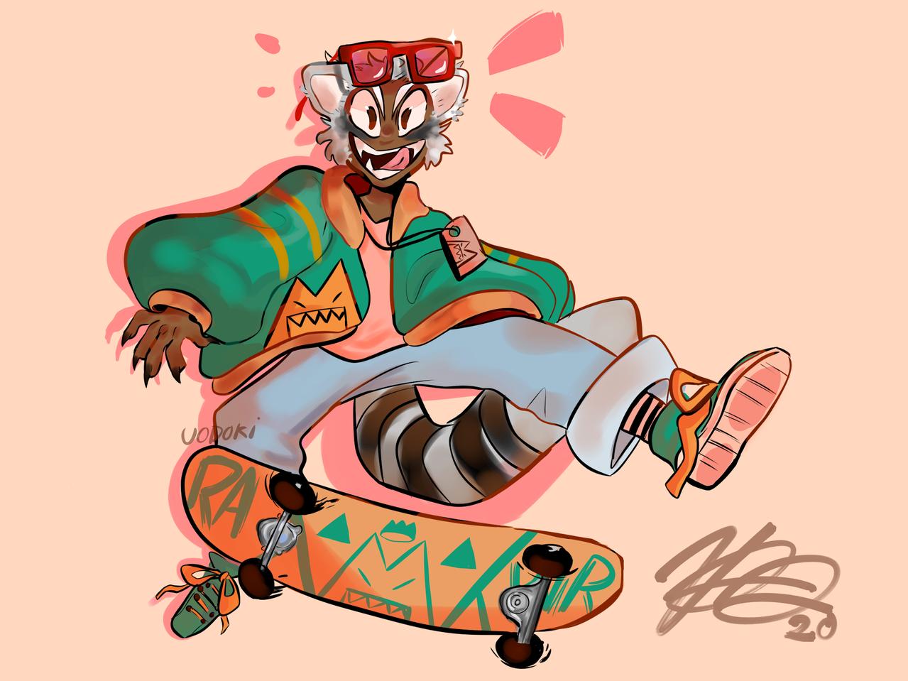 Raccoon boy
