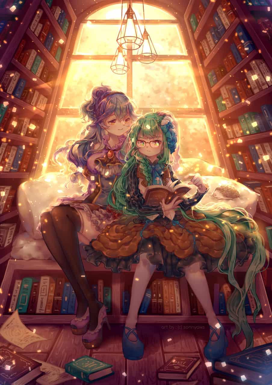 Sisterhood Illust of sonnya_ws book girl Sisters library