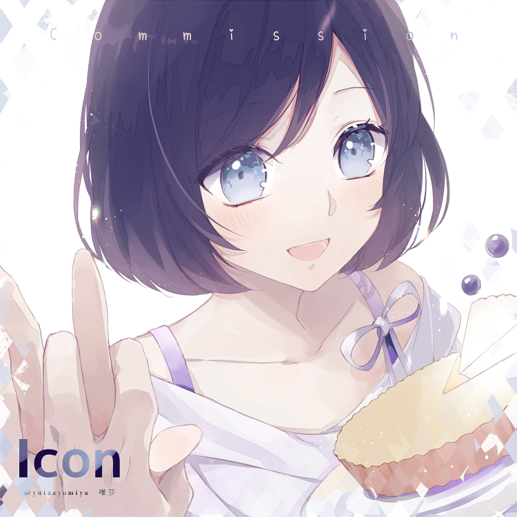 With You♡ Illust of 唯莎 smile girl commission 仕事絵