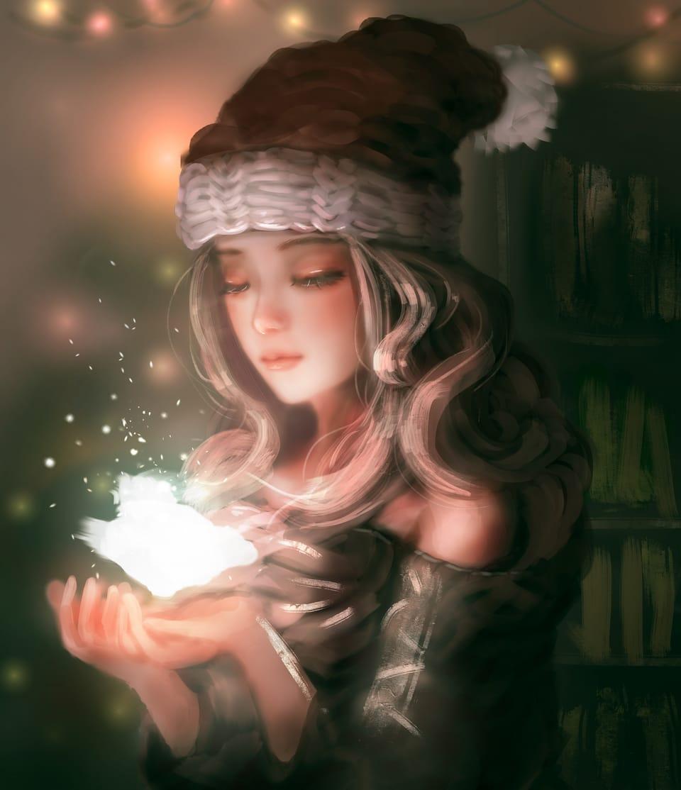 christmas girl Illust of YIDO December2020_Contest:Santa Christmas girl christmasgirl S illustration Santa