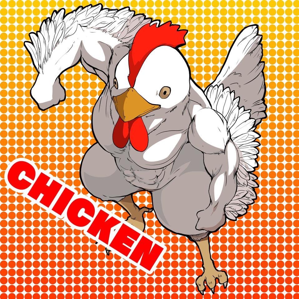 CHICKEN Illust of nekono medibangpaint レッツワンドロ ニワトリ birds チキン