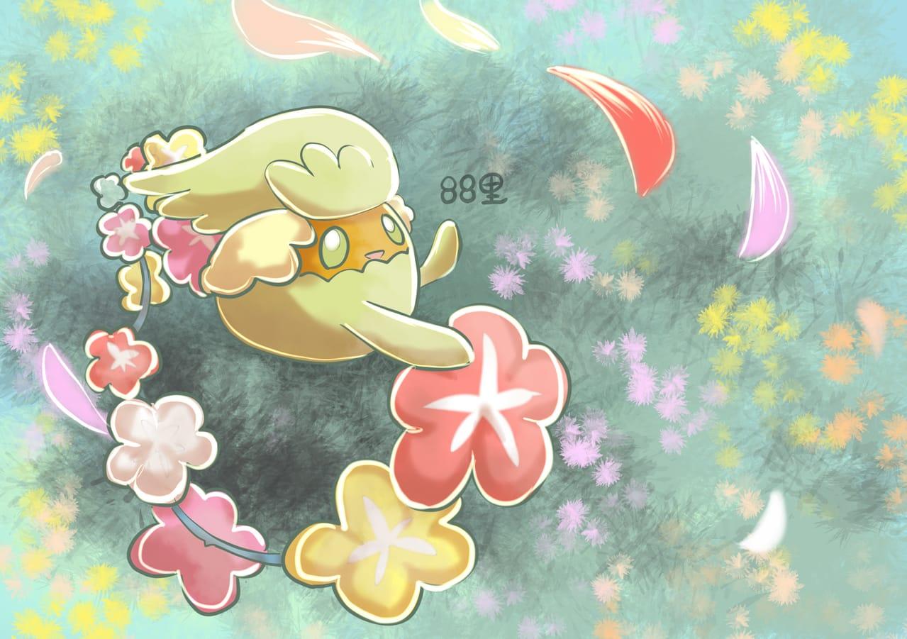 キュワワー Illust of 88里 green キュワワー pokemon