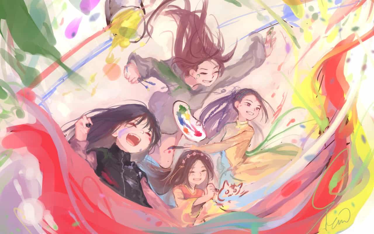 絵描きは楽しい! Illust of 彩霞ノ雨 ARTstreet_Ranking April.2020Contest:Color oc girl 季節の子たちが歩みながら original
