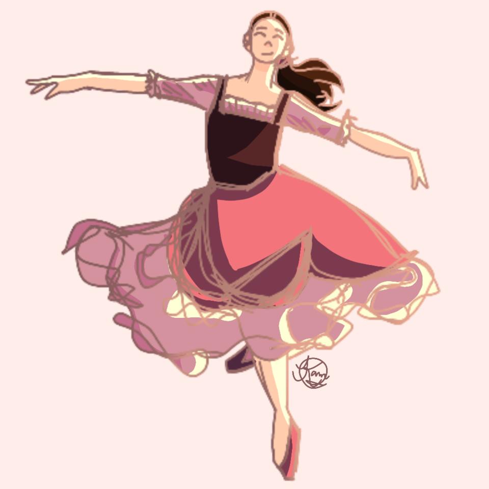 A lil Drawing Practice Illust of ✨DoodlePandaaa✨ skirt practice girl line_art ballet