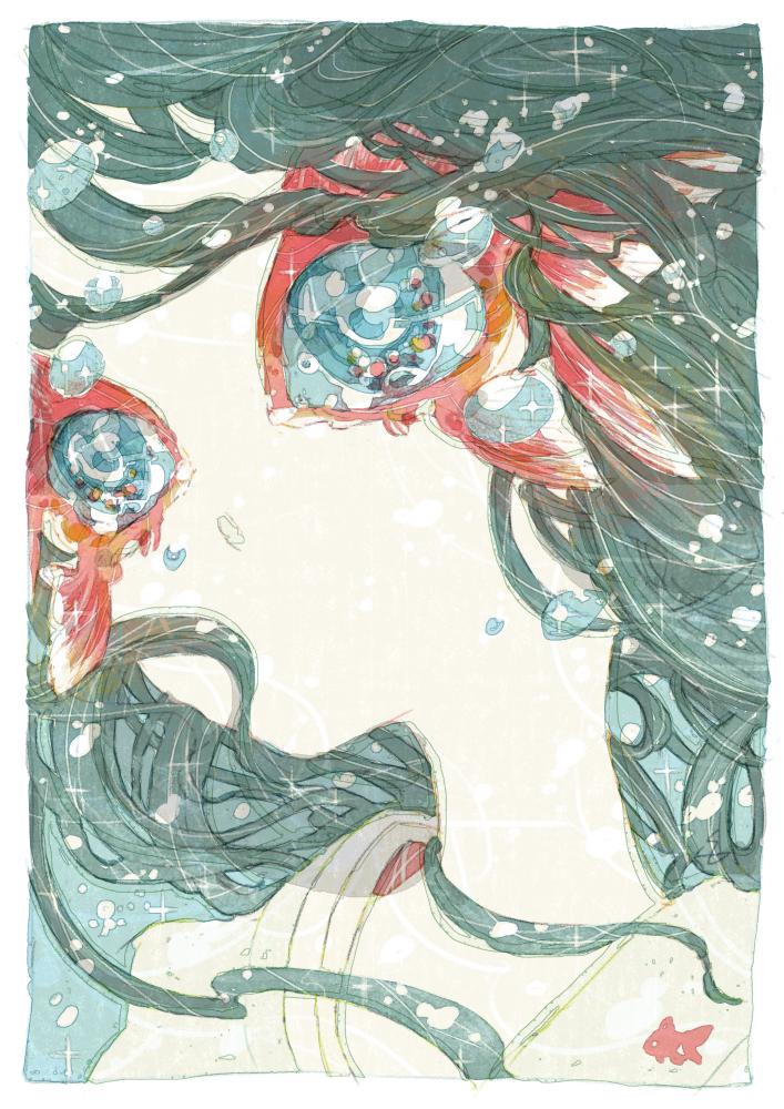 うおのめ Illust of 氏← June2021_Anthropomorphism goldfish Personification original