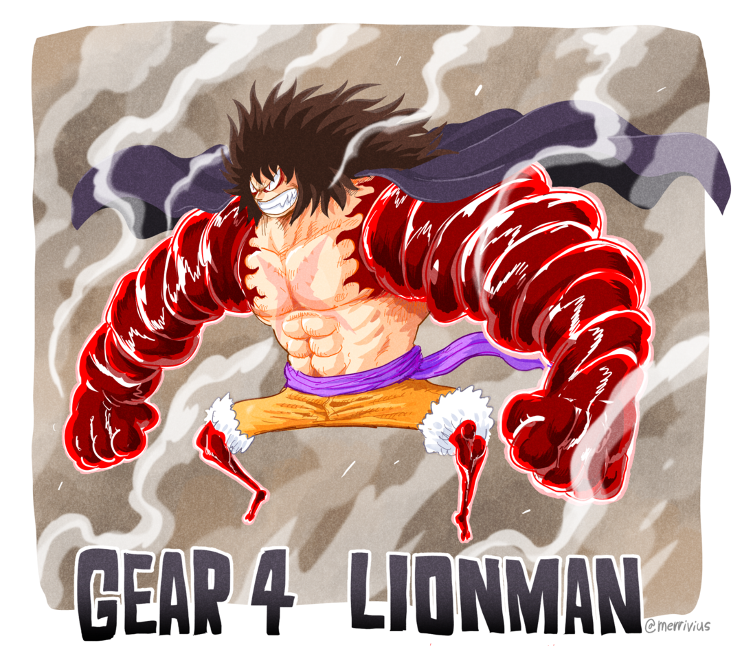 Gear 4th: Lionman Illust of Merrivius ONEPIECE_FanartContest-Illustration ONEPIECE_FanartContest ONEPIECE