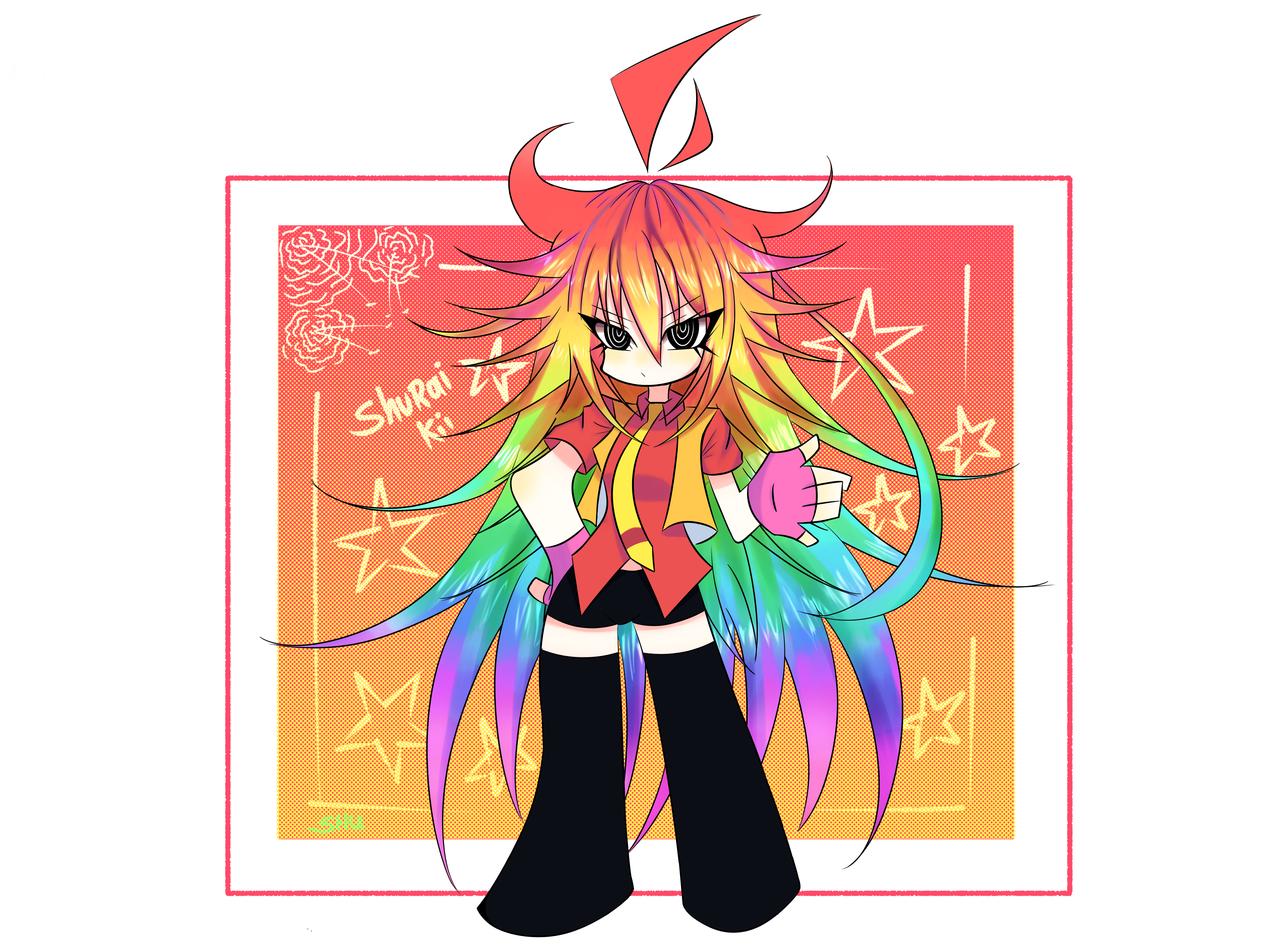 ▶Leer descripción. Illust of shushu medibangpaint rainbow