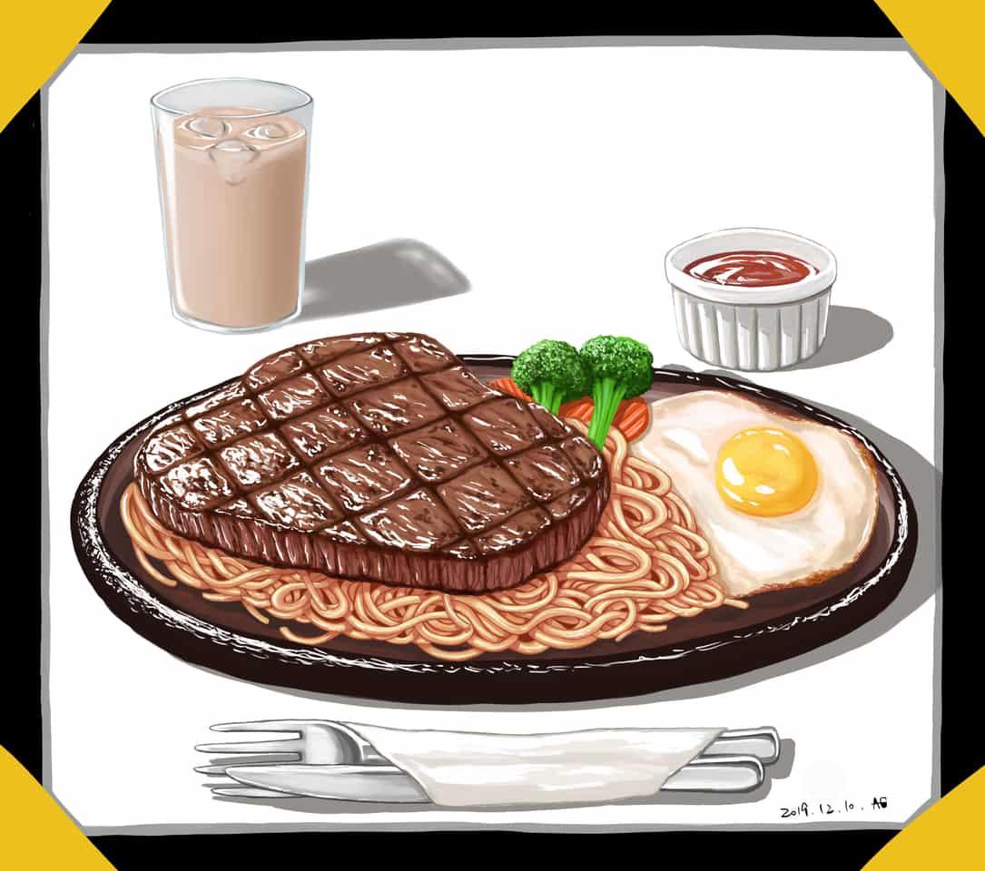 練習 Illust of AG-Li October2020_Contest:Food food