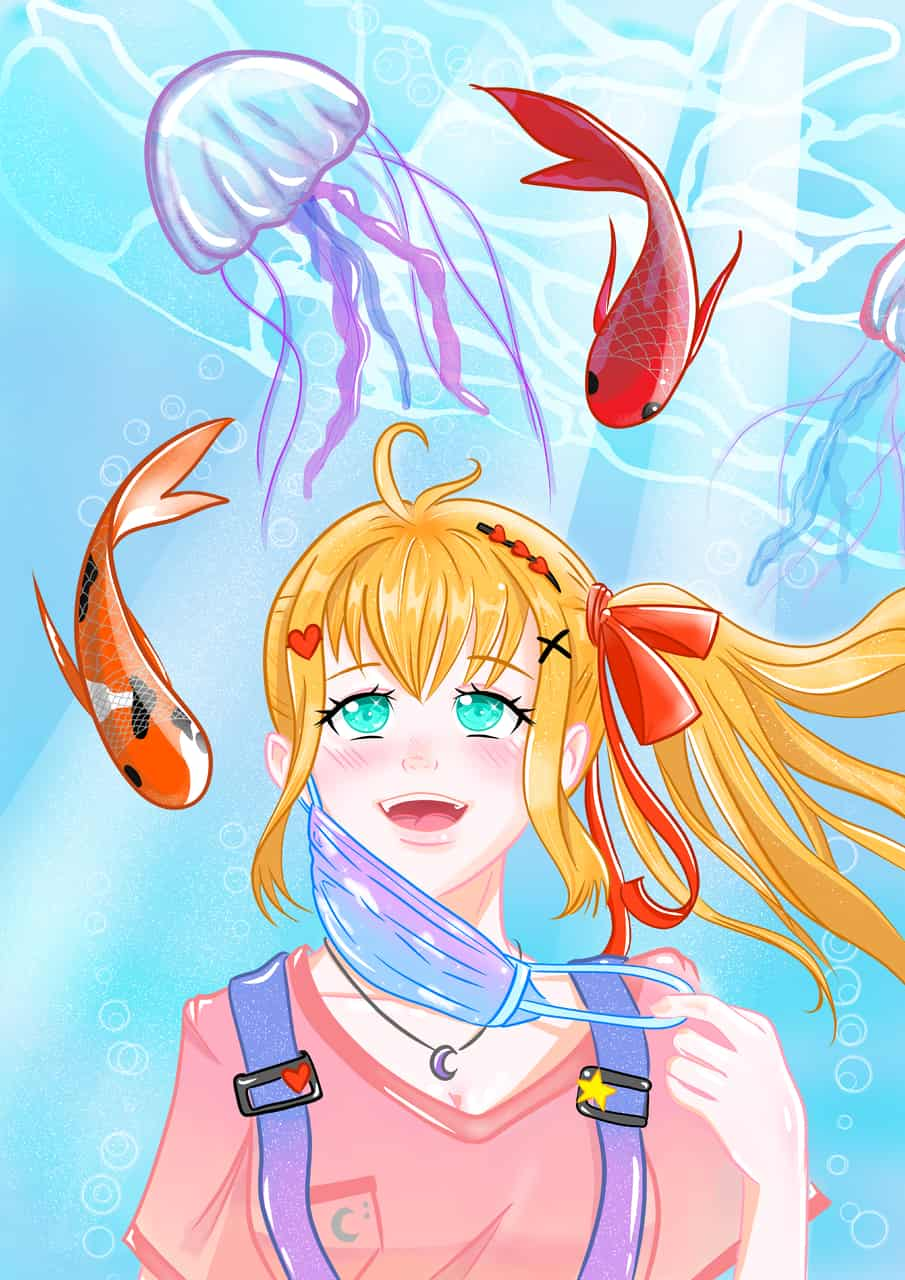 We have almost reach the top!!!!! Illust of silvs illustration girl hope digital art drawing color anime