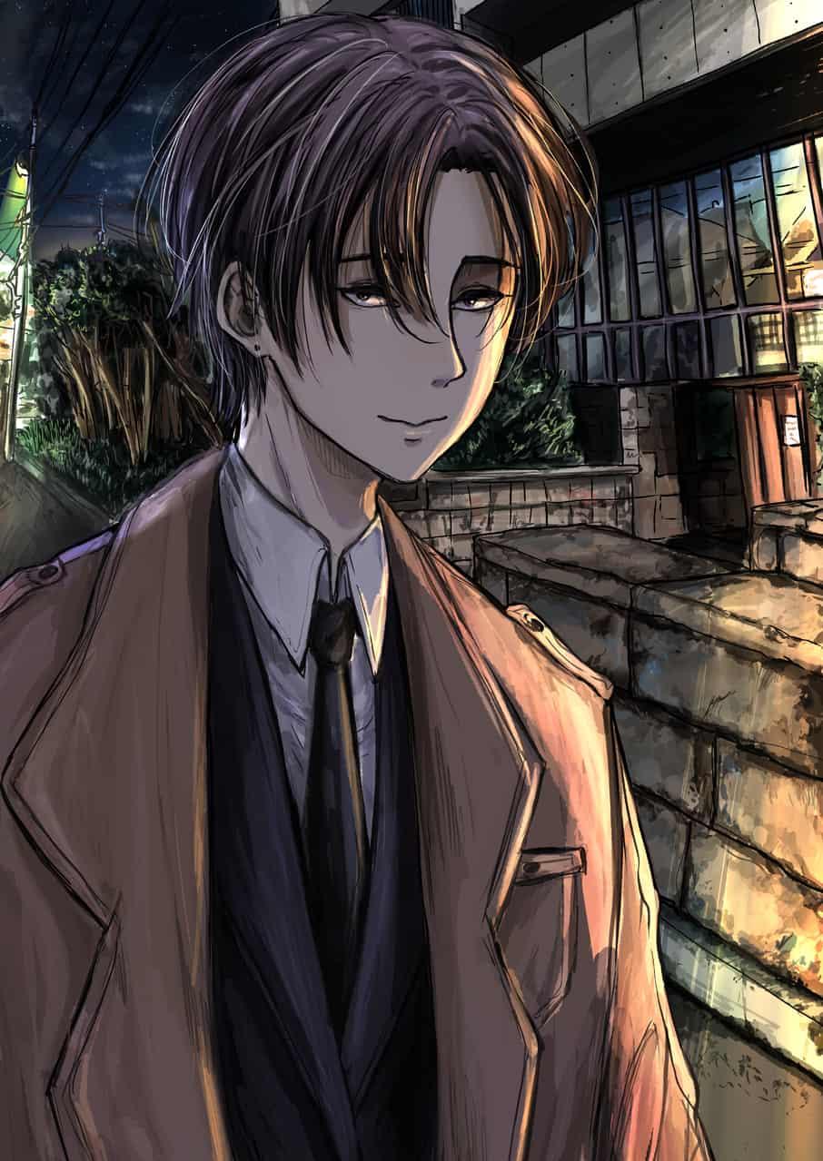 Genji Illust of 2147 MyIdealWaifu_MyIdealHusbandoContest MyIdealHusbando night background