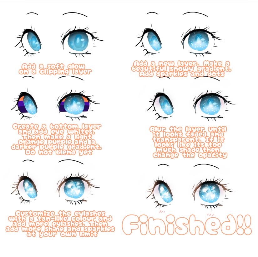 Eye Tutorial!! Illust of 🌙🍩🍪Creative Bakery🍪🍩🌙 The_Challengers blue ibispaint :v eyes tutorial turquoise sparkles 目イキング kawaii メイキング