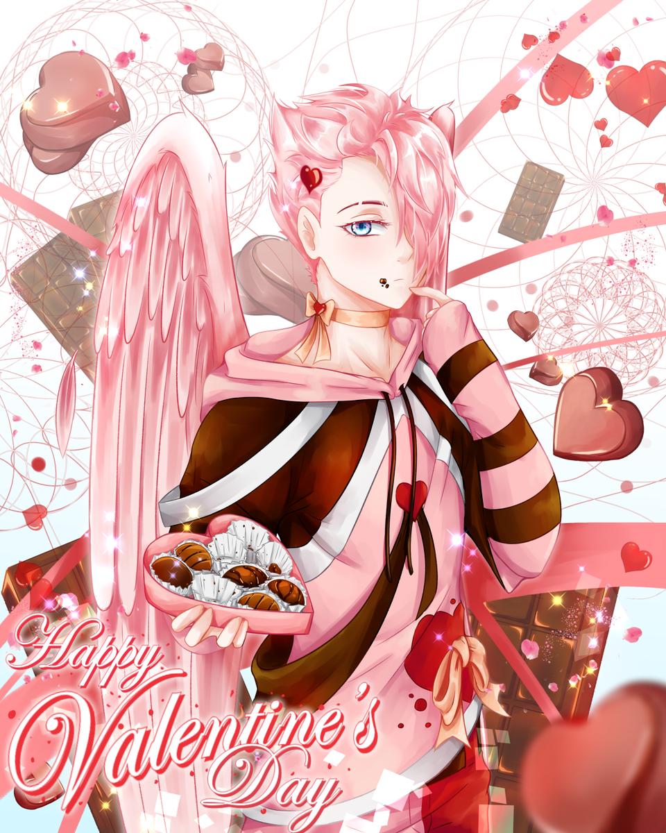 Sky Budah Illust of Wyvernnova January2021_Contest:OC February2021_Fantasy cute huiontablet illustration Valentine kawaii digital anime animeboy adorable oc