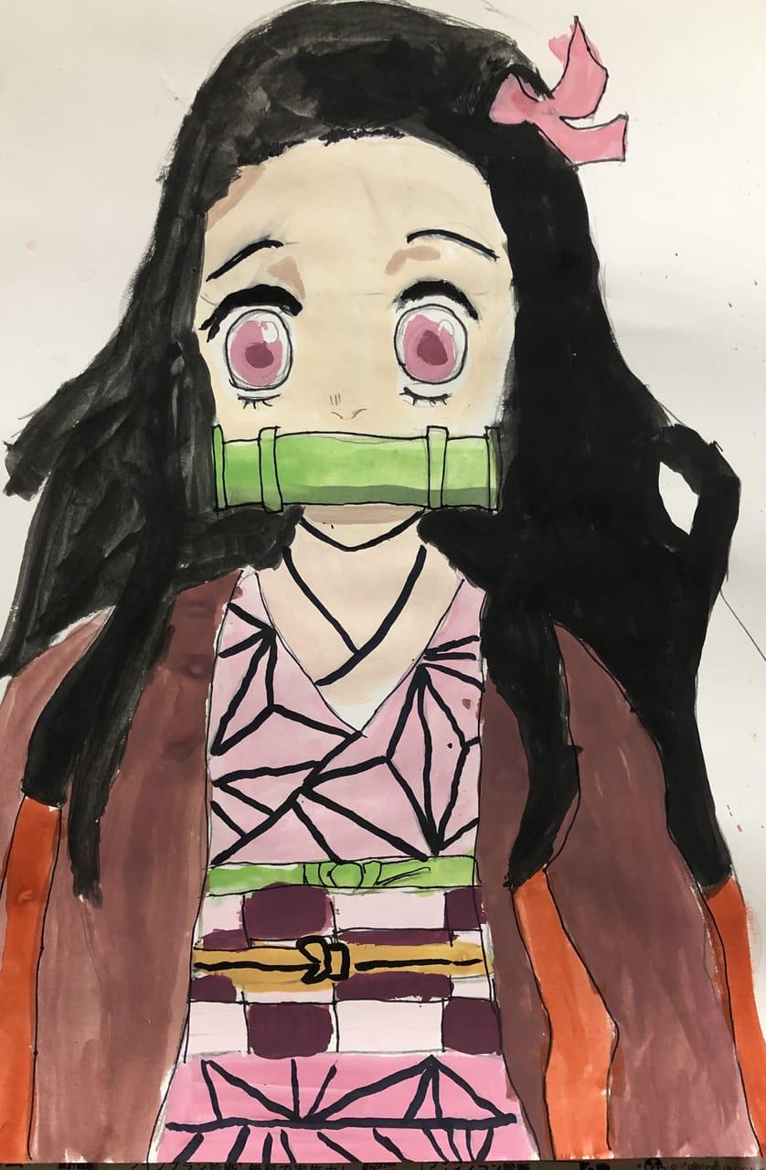 竈門禰豆子 Illust of 胡蝶しずく KamadoNezuko fanart AnalogDrawing KimetsunoYaiba