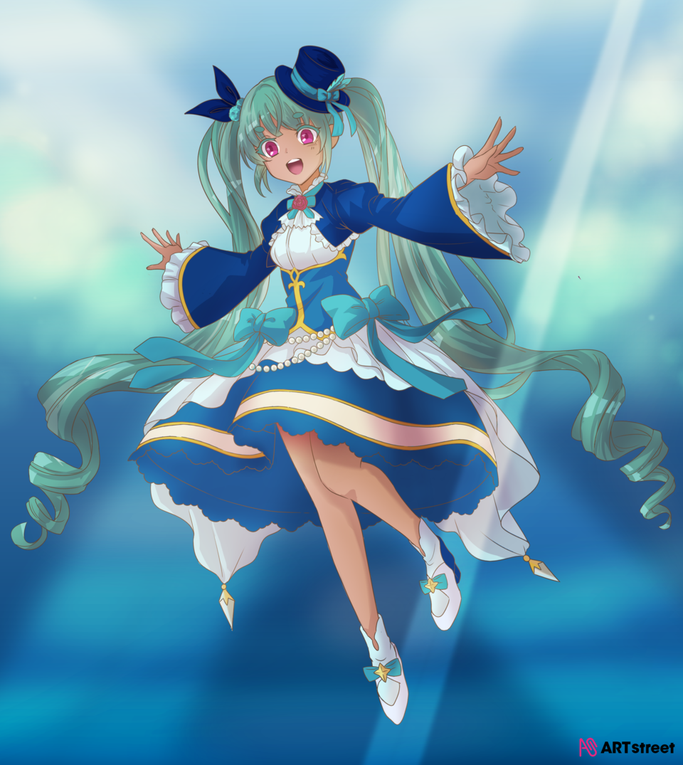= For Coloring Contest = Illust of Rusyda Si Pelukis ColoringContest coloring girl blue