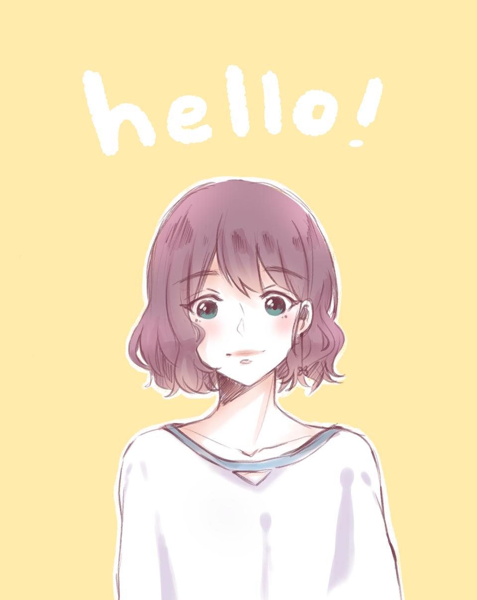 hello ⭐️🍋🌼 Illust of krisppie medibangpaint sketch Shorthair girl kawaii anime doodle animegirl yellow cute