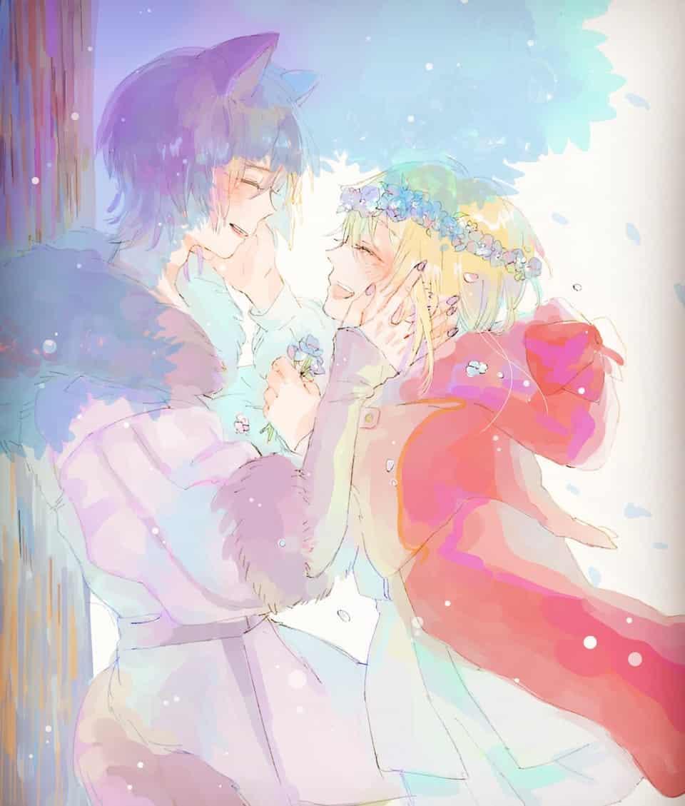 「 愛してるよ 抱きしめたいよ 」 Illust of ステラ🌙🌌 96猫 fanart 天月 singer おおか