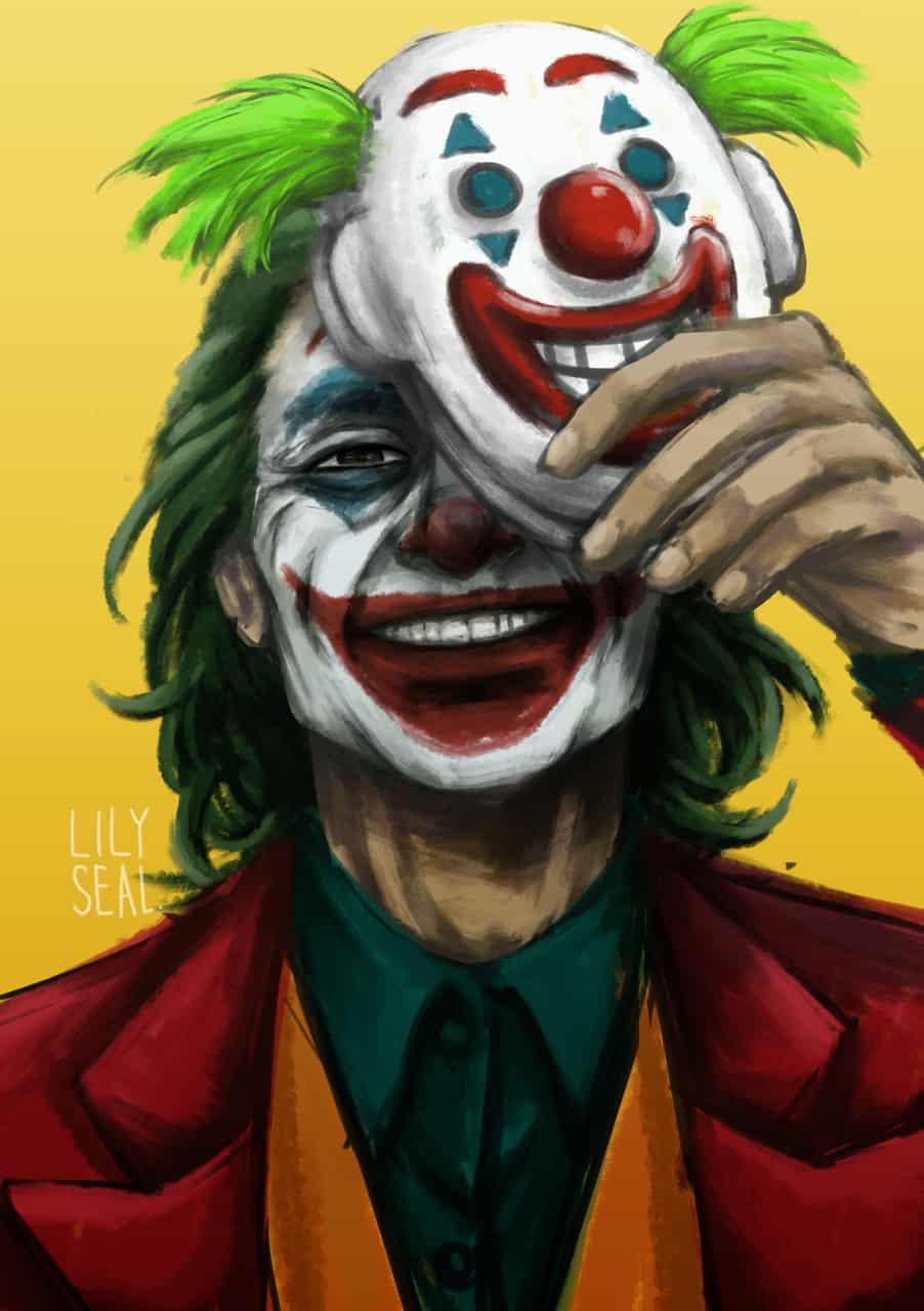 Joker Illust of lily_seal digitalpainting fanart jokerfanart joker DC digital joaquinphoenix mask