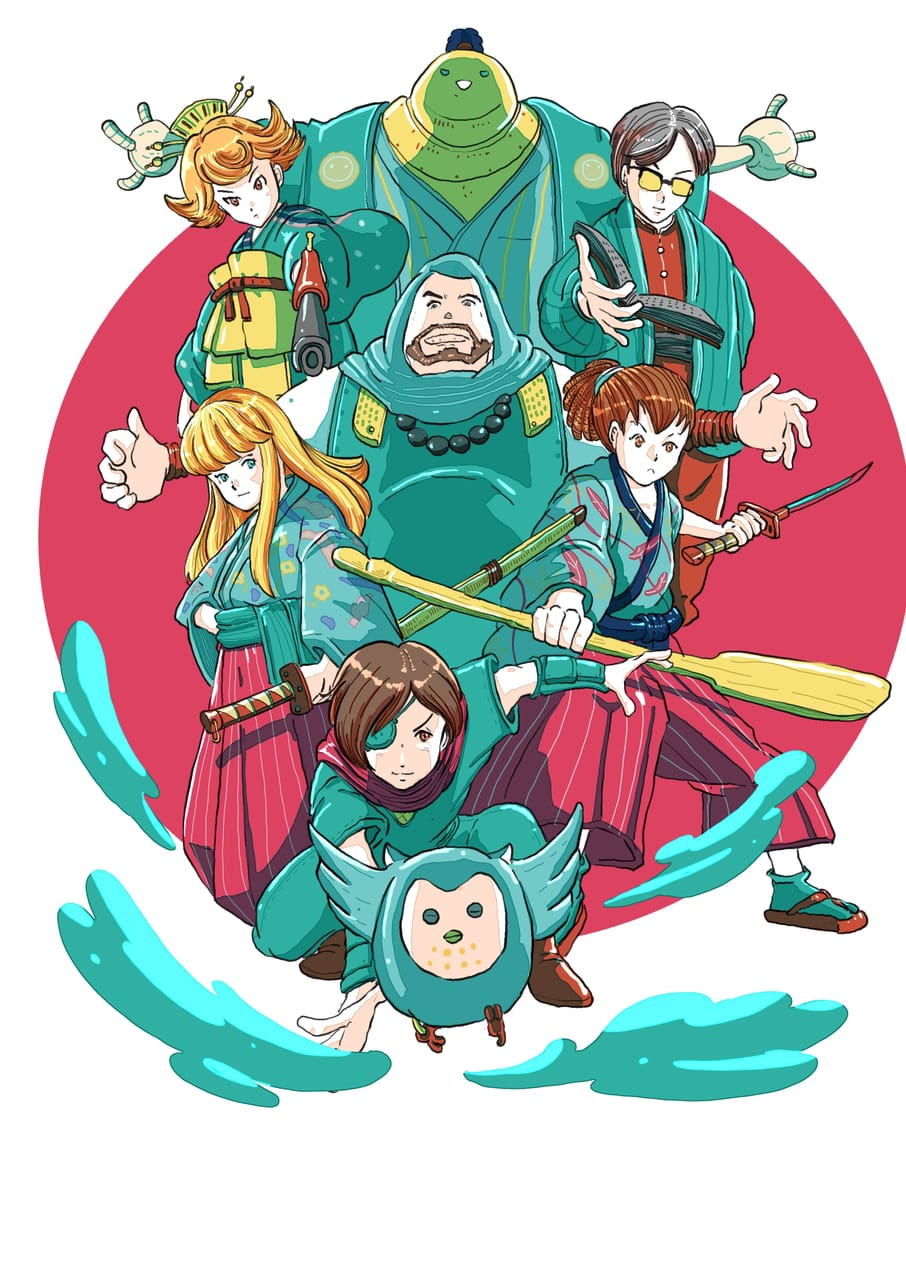 Re -Caroles and tuesday charactor in japan theme Illust of Wutikai fantasy fanart CAROLE&TUESDAY Japanese_style cutegirl ninja girl DrawThisAgain samurai cute