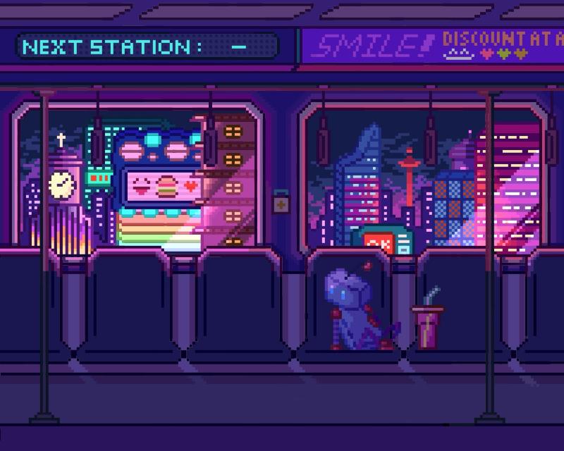 机器城市 (*☻-☻*) Illust of Imagination November2020_Contest:Cyberpunk medibangpaint pixelart