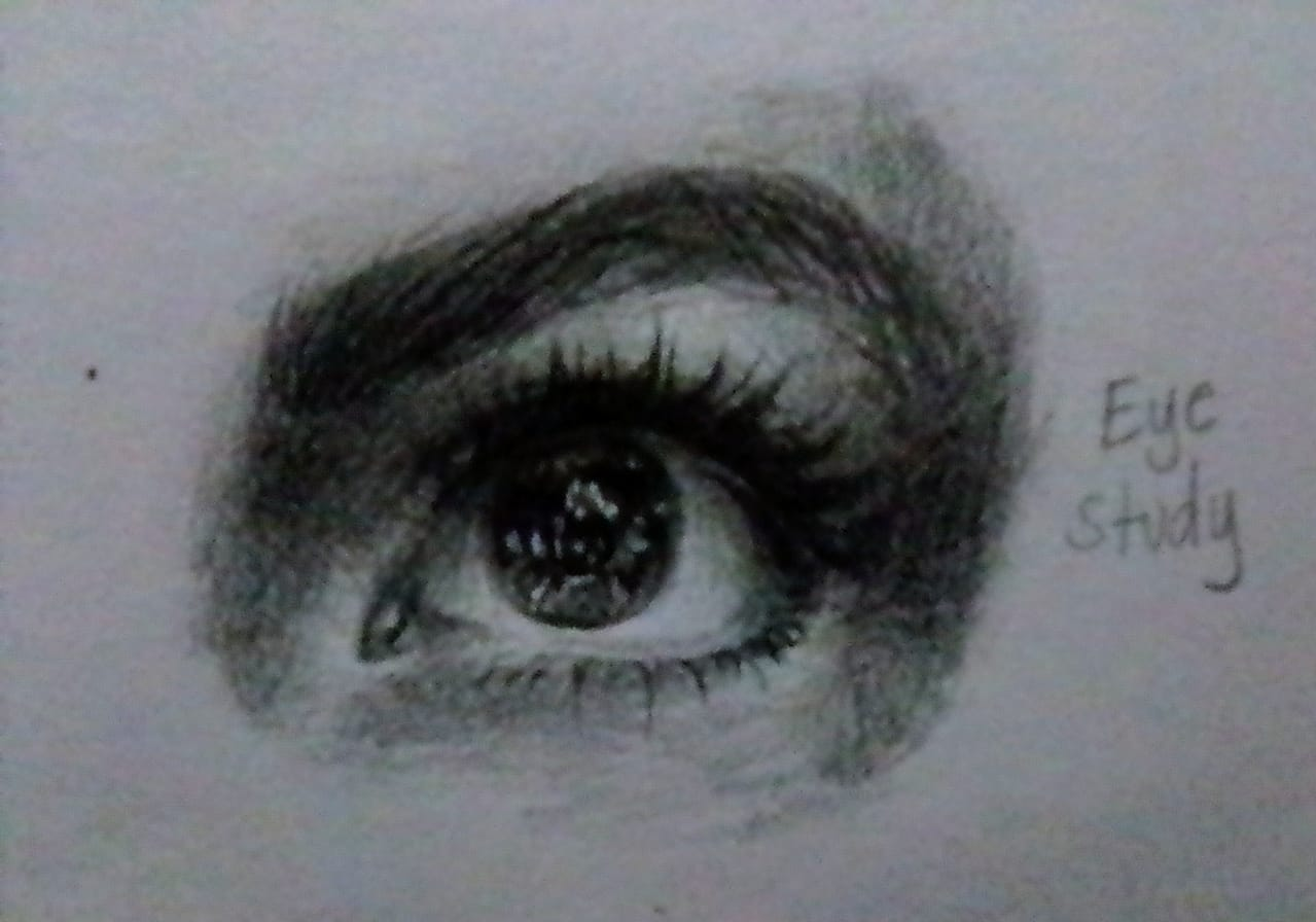 Eye Study Illust of Izayoi Mikasa eyes drawing AnalogDrawing blackandwhite