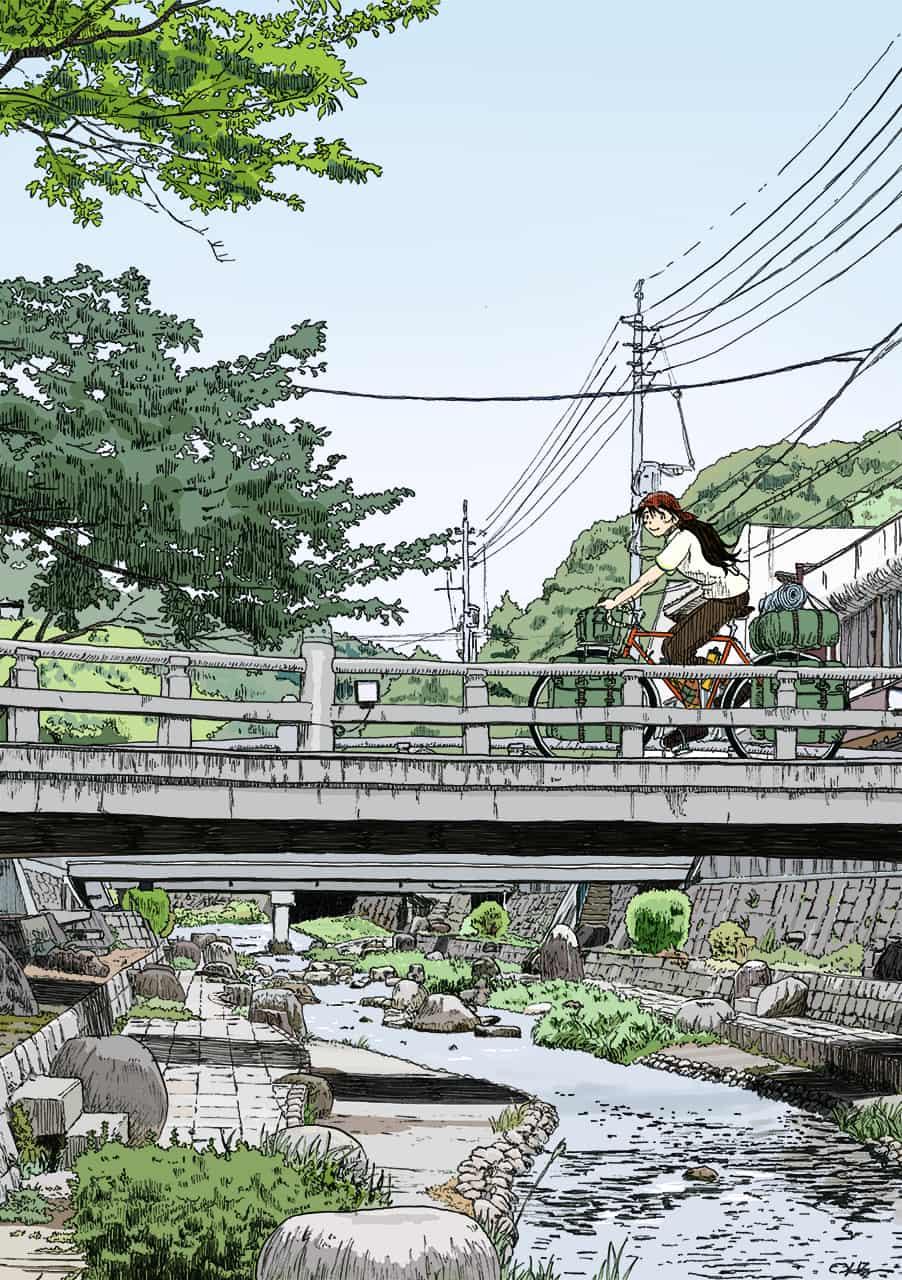 玉造温泉-橋の上