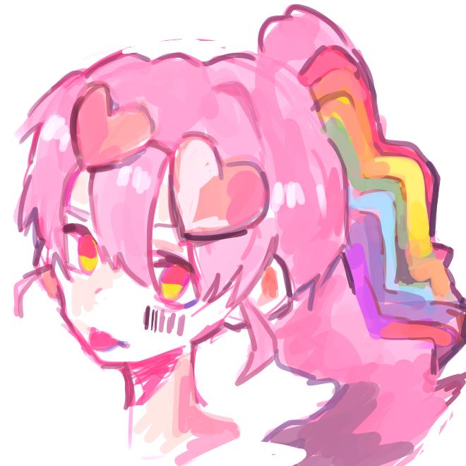 rainbowgirl nanairo Illust of mutak medibangpaint girl