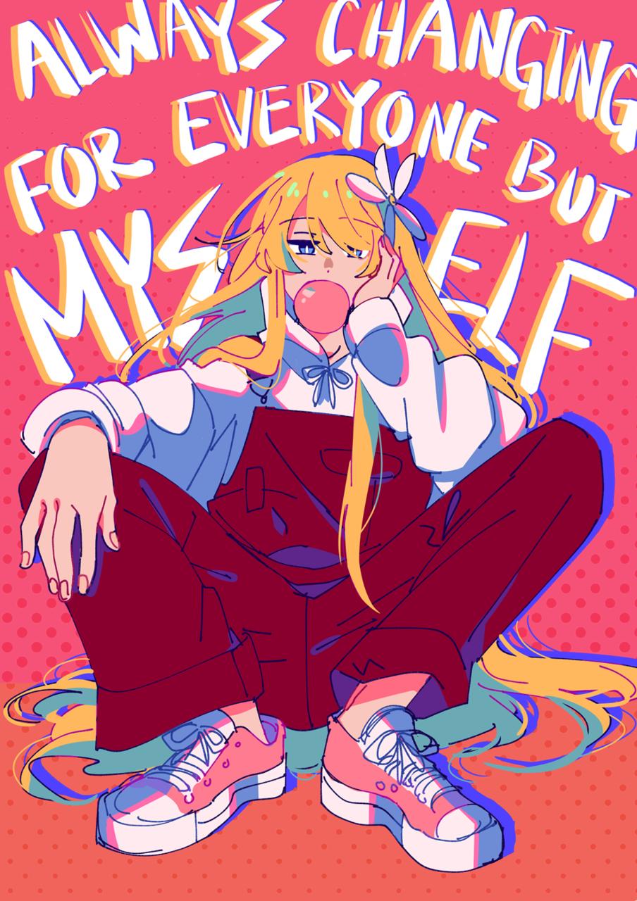 僕はバカですよね? Illust of AsterKun portrait original sketch ShionBellevue oc blonde anime digital