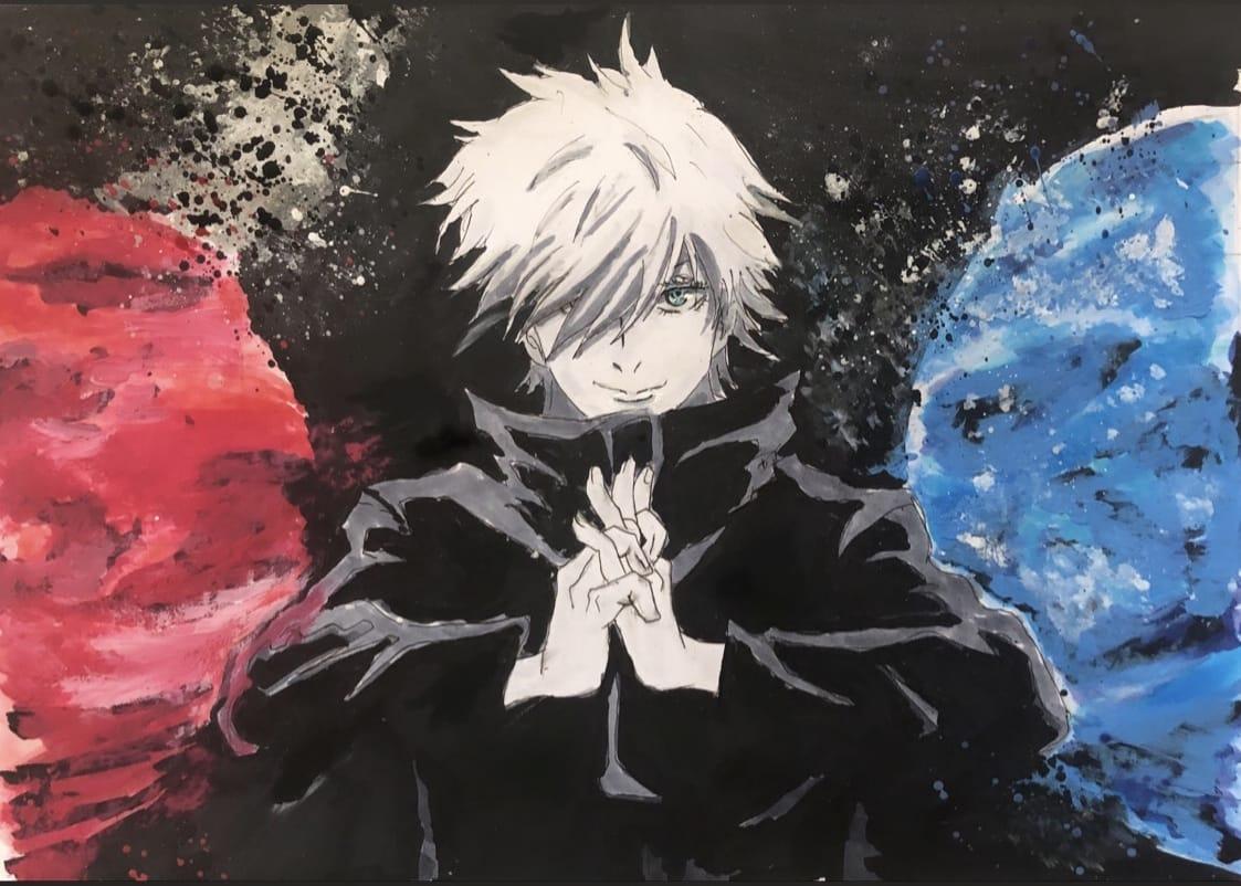 術式順転「蒼」術式反転「赫」 Illust of 胡蝶しずく JujutsuKaisenFanartContest JujutsuKaisen 五条先生 SatoruGojō