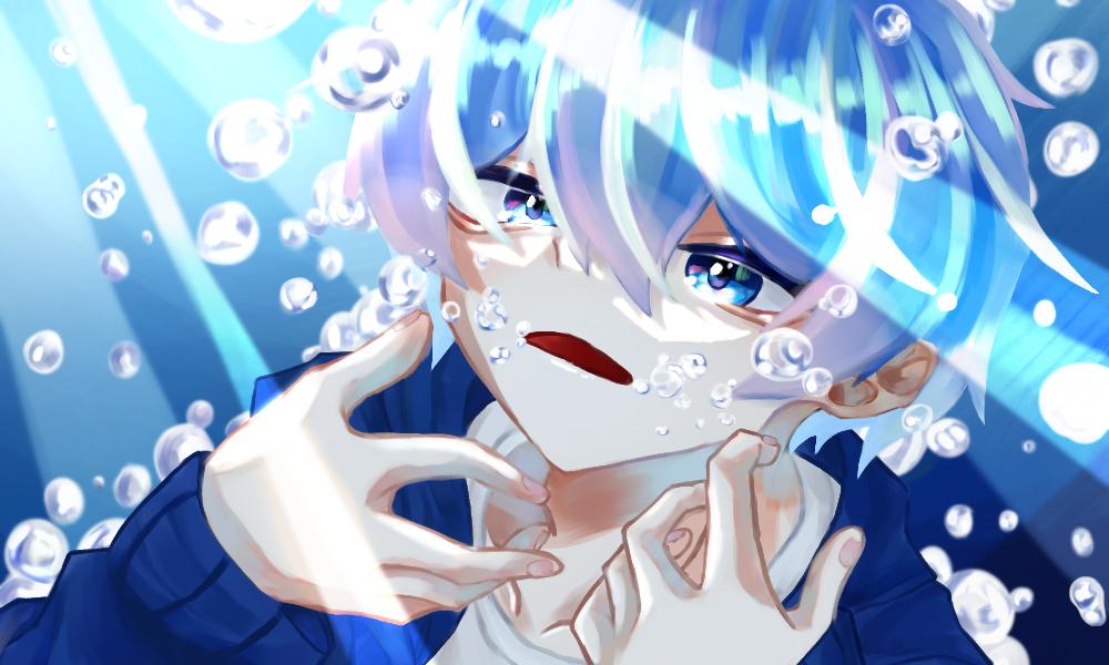 無題 Illust of 猫丸 boy blue oc original sea