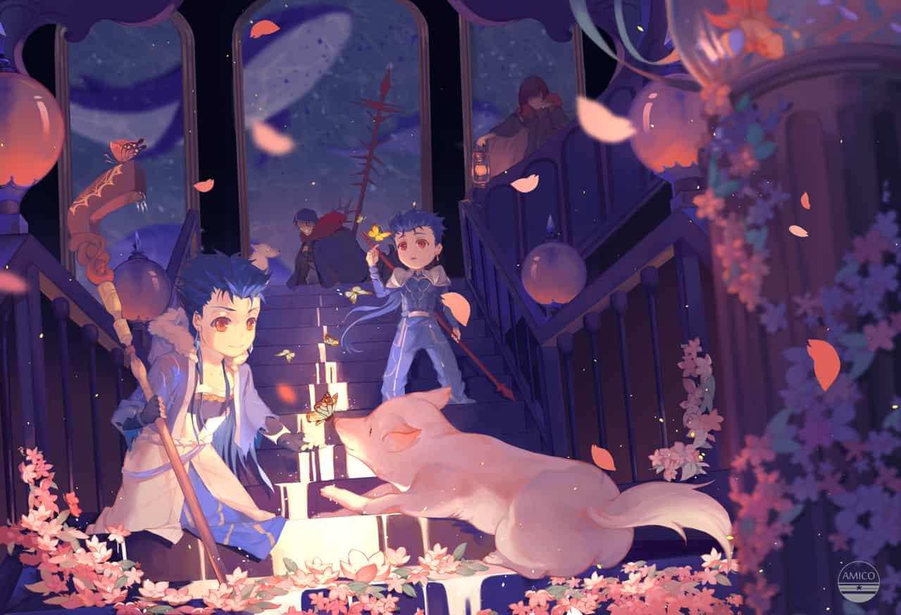 夜 Illust of Amico CúChulainn 同人 Fate/GrandOrder